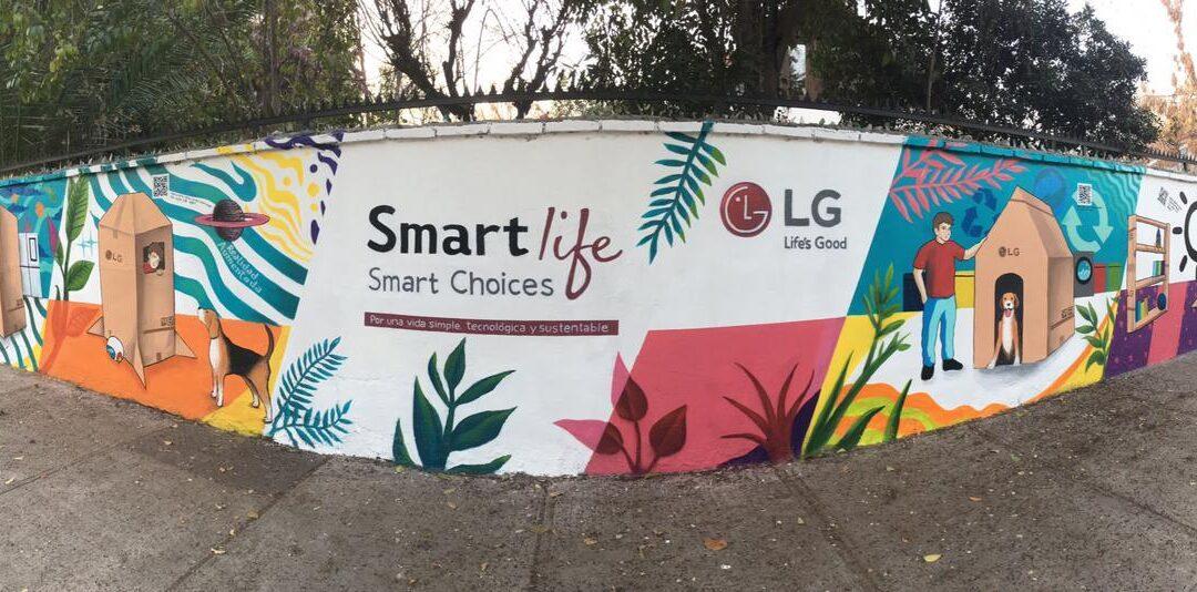 LG Electronics junto a planta inauguran mural sustentable que absorbe el Co2 del ambiente
