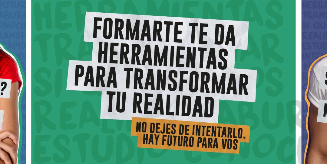 #EstudiarEsTuHerramienta, una campaña para motivar a adolescentes a seguir formándose